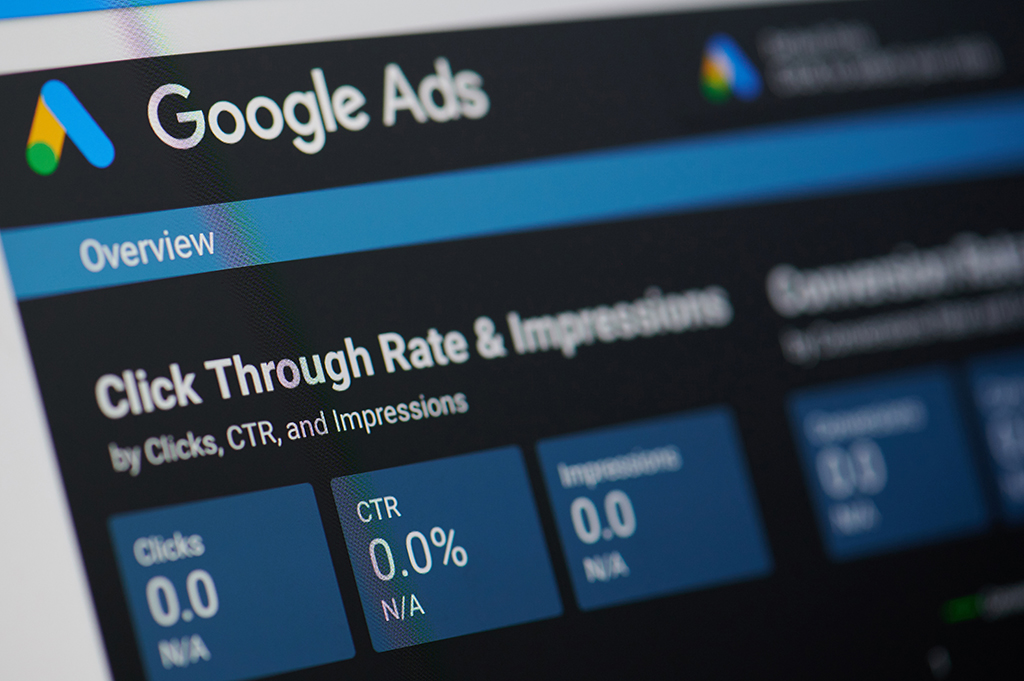 Google Ads overview page to see how each ad is performing